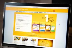 Sika Waterproofing website screen