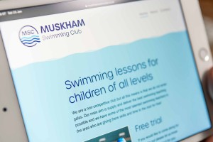 Muskham Swim Club website screen