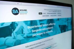 Sound Advice Education website screen
